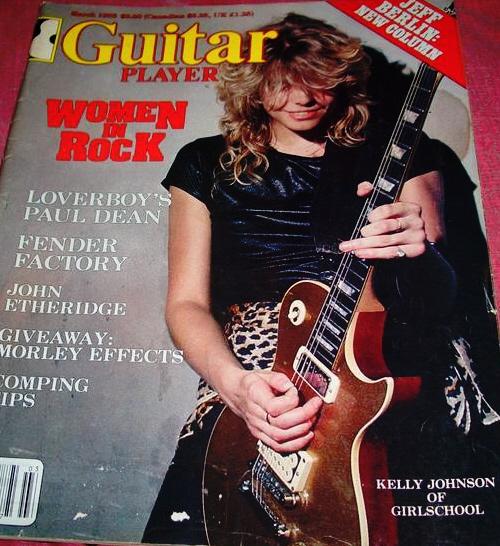 Of guitar player magazine in 83 oww flash a grin in leopard skin